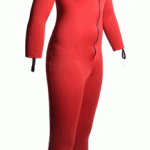Womens Red Sauna Suit