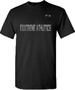EXXTREME ATHLETICS MENS BLACK T-SHIRT