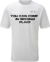 EXXTREME ATHLETICS YOU CAN COME IN SECOND PLACE MENS WHITE T-SHIRT