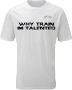 EXXTREME ATHLETICS WHY TRAIN IM TALENTED MENS WHITE T-SHIRT