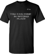 EXXTREME ATHLETICS YOU CAN COME IN SECOND PLACE MENS BLACK T-SHIRT