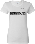 EXXTREME ATHLETICS WOMENS WHITE T-SHIRT